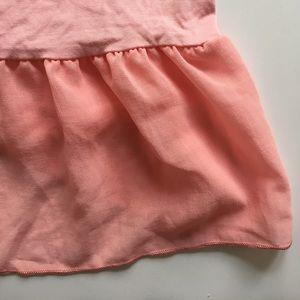 Chiffon Rose ruffle tunic
